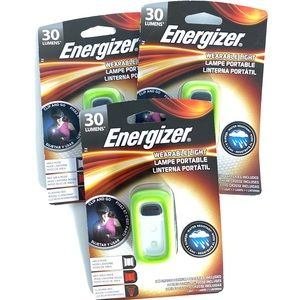 3 Energizer Clip and Go Wearable Light